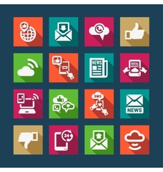flat communication icons set vector image