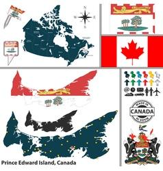 Map of Prince Edward Island vector image vector image