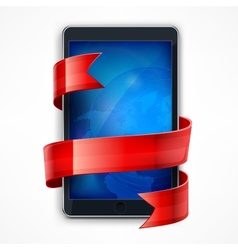 Mobile phone Ribbon vector image vector image