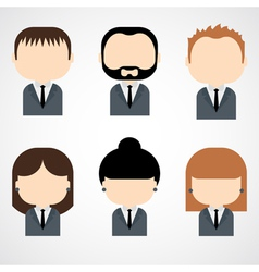 Set of businessman and businesswoman vector image