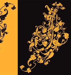 artistic swirls vector image vector image