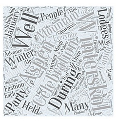 aspen nightlife winterskol Word Cloud Concept vector image vector image