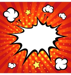 Comic speech bubble comic backgound vector image vector image