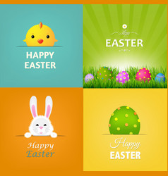 easter cards set vector image vector image