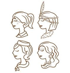 fashion woman cartoon vector image vector image