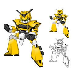 Robot truck cartoon character vector