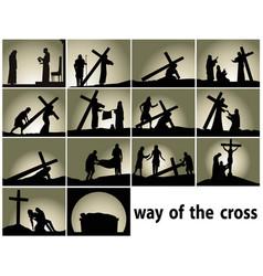 way of the cross vector image
