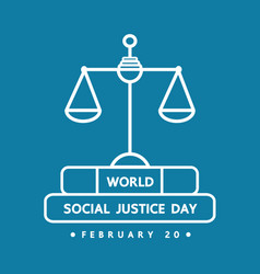 world social justice day vector image