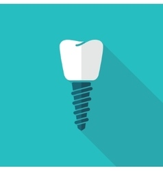 A dental implant vector image vector image