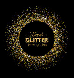 black and gold background with glitter frame vector image vector image