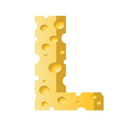 cheese letter L vector image vector image