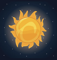 color space landscape background with sun star vector image