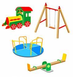 Playground equipment vector