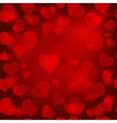 Red valentine seamless pattern vector image
