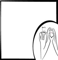 wedding pattern vector image vector image