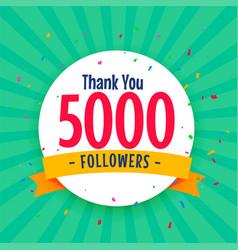 5000 social media followers background vector