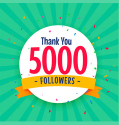 5000 social media followers background with vector