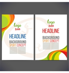 Abstract template design brochure vector
