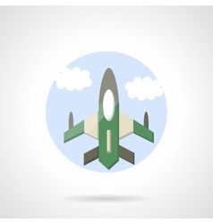 Aircraft flat round icon vector