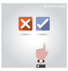 Approval concept vector image