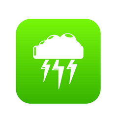 Atmospheric electricity icon green vector