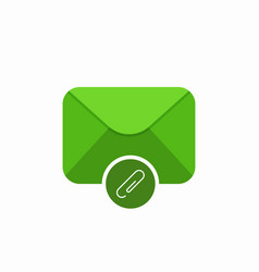 attach attachment email mail icon vector image