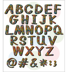 Big letters of the alphabet vector