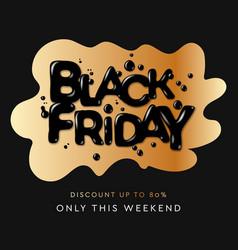 black friday sale banner or poster modern black vector image