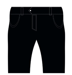 Black Jeans vector image