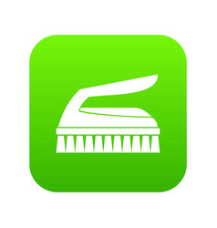 Brush for cleaning icon digital green vector