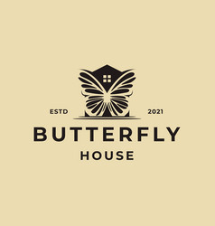 butterfly house logo icon template vector image