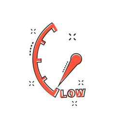 cartoon low level icon in comic style speedometer vector image