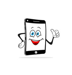 cartoon smartphone smiles vector image