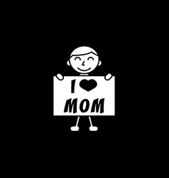 child i love mom vector image