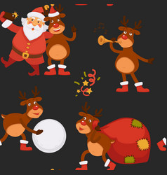 christmas holidays celebration santa claus vector image