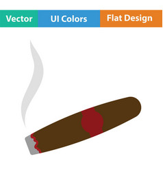 Cigar icon vector