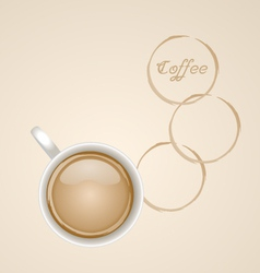 Coffee with stain vector
