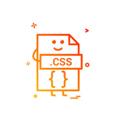 Computer css file format type icon design vector