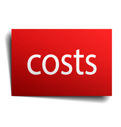 Costs red paper sign isolated on white vector