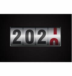 Counter showing 2021 digit on dark vector
