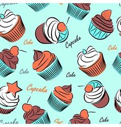 Cupcake seanless vector image