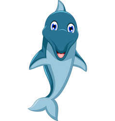 cute dolphin cartoon jumping vector image