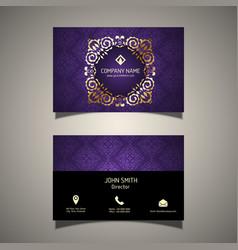 Decorative business card vector