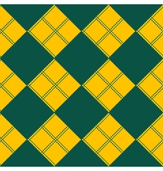 Diamond Chessboard Yellow Green Background vector image