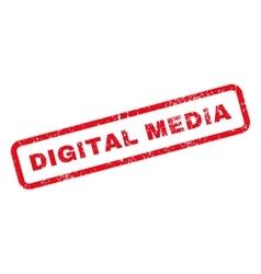 Digital Media Text Rubber Stamp vector