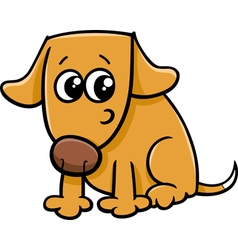 dog or puppy cartoon vector image