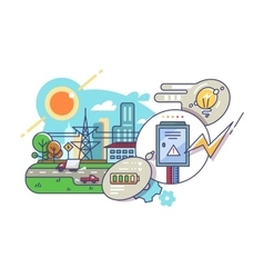 Energy and electricity supply vector image
