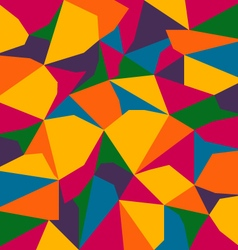full color spectrum abstract polygon background vector image