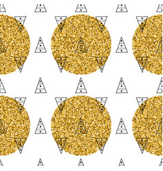 Geometric seamless pattern with triangles vector