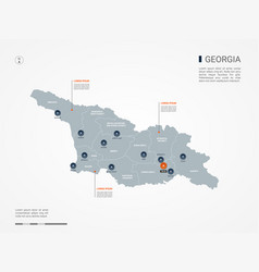 Georgia infographic map vector
